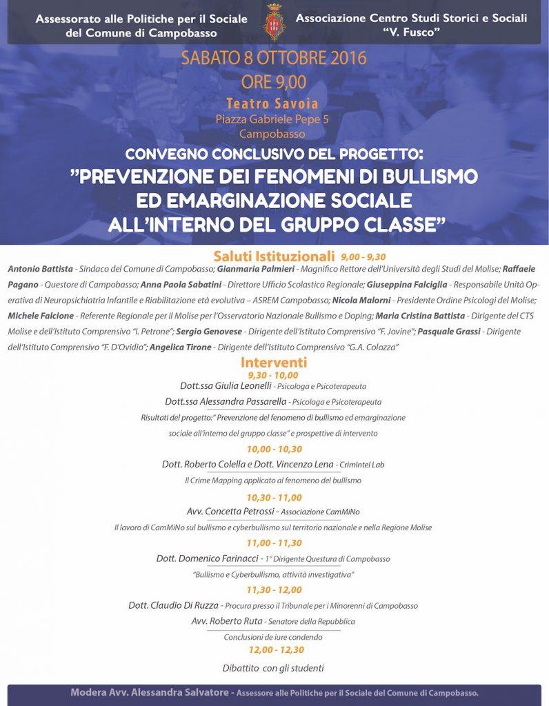 manifesto conferenza bullismo